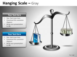 Hanging Scale Gray Powerpoint Presentation Slides DB
