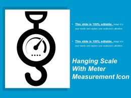 Hanging Scale With Meter Measurement Icon