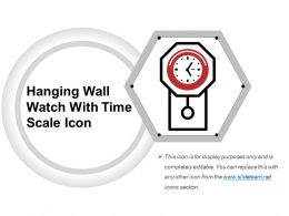 Hanging Wall Watch With Time Scale Icon