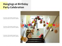 Hangings At Birthday Party Celebration