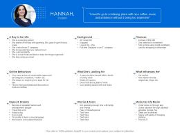 Hannah Student Background Ppt Powerpoint Presentation Styles Format