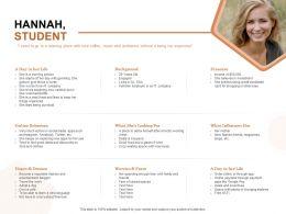 Hannah Student Background Ppt Powerpoint Presentation Summary Maker