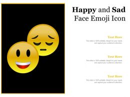 Happy And Sad Face Emoji Icon