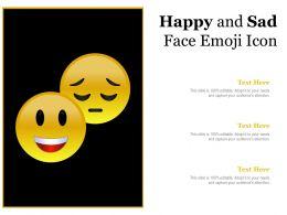Happy And Sad Face Emoji Icon