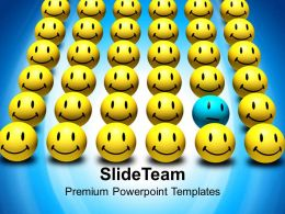 Happy And Sad Faces Bedifferent Concept Business Powerpoint Templates Ppt Themes And Graphics 0113
