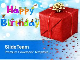 Happy Birthday Gift Background Powerpoint Templates Ppt Themes And Graphics 0313