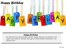 Happy Birthday Powerpoint Presentation Slides