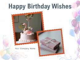 Happy Birthday Wishes Through Doughnuts Chocolate Present Balloon