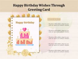 Happy Birthday Wishes Through Greeting Card