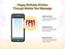 Happy Birthday Wishes Through Mobile Text Message