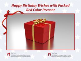 Happy Birthday Wishes With Packed Red Color Present