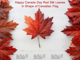 Happy Canada Day Red Silk Leaves In Shape Of Canadian Flag