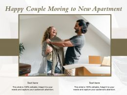 Happy Couple Moving To New Apartment