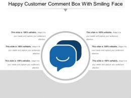 Happy Customer Comment Box With Smiling Face