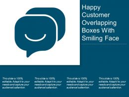 Happy Customer Overlapping Boxes With Smiling Face