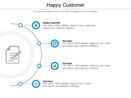 Happy Customer Ppt Powerpoint Presentation Model Examples Cpb