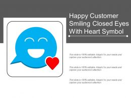 Happy Customer Smiling Closed Eyes With Heart Symbol
