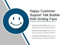 Happy Customer Support Talk Bubble With Smiling Face