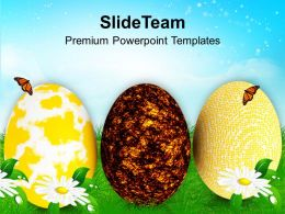 Happy Easter Eggs With Soothing Colors Powerpoint Templates Ppt Themes And Graphics 0313