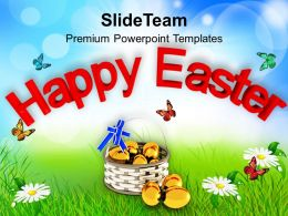 Happy Easter Wishes With Eggs Powerpoint Templates Ppt Themes And Graphics 0313