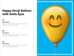 Happy Emoji Balloon With Smile Eyes