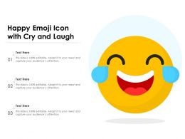 Happy Emoji Icon With Cry And Laugh