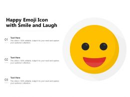 Happy Emoji Icon With Smile And Laugh