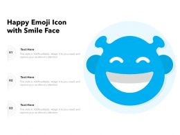 Happy Emoji Icon With Smile Face
