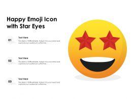 Happy Emoji Icon With Star Eyes