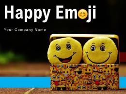 Happy Emoji Multiple Printed Anxiety Emotions Smiling