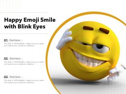 Happy Emoji Smile With Blink Eyes