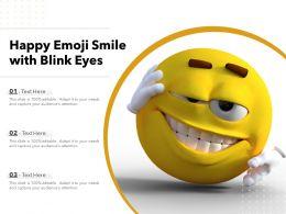 Happy Emoji Smile With Blink Eyes