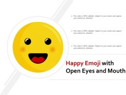 Happy Emoji With Open Eyes And Mouth