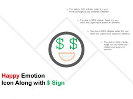 Happy Emotion Icon Along With Dollar Sign
