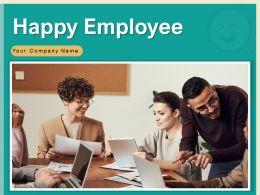 Happy Employee Business Customer Feedback Promotion Achievements