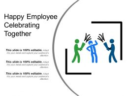 Happy Employee Celebrating Together