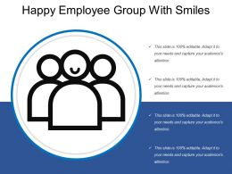 Happy Employee Group With Smiles