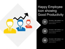 Happy Employee Icon Showing Good Productivity