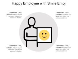 Happy Employee With Smile Emoji