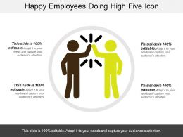 Happy Employees Doing High Five Icon