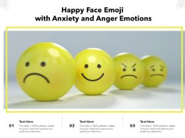Happy Face Emoji With Anxiety And Anger Emotions