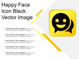Happy Face Icon Black Vector Image