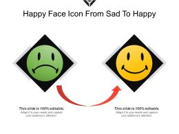 Happy Face Icon From Sad To Happy