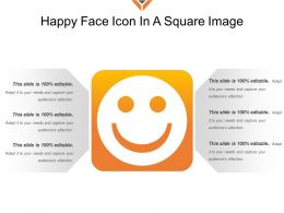 Happy Face Icon In A Square Image
