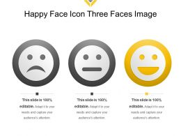 Happy Face Icon Three Faces Image
