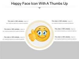 Happy Face Icon With A Thumbs Up