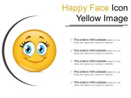Happy Face Icon Yellow Image