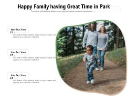 Happy Family Having Great Time In Park