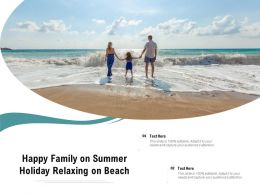 Happy Family On Summer Holiday Relaxing On Beach