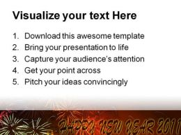 Happy New Year 2011 Festival PowerPoint Background And Template 1210  Presentation Themes and Graphics Slide03